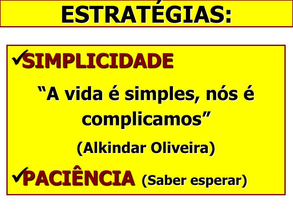 A vida é simples, nós é complicamos