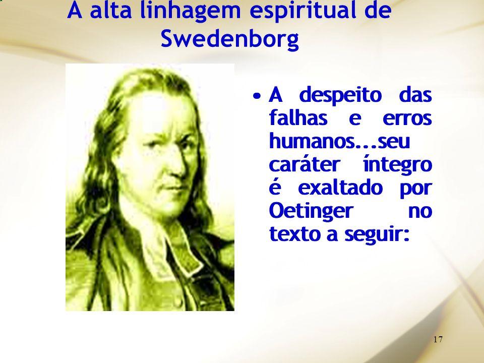 A alta linhagem espiritual de Swedenborg