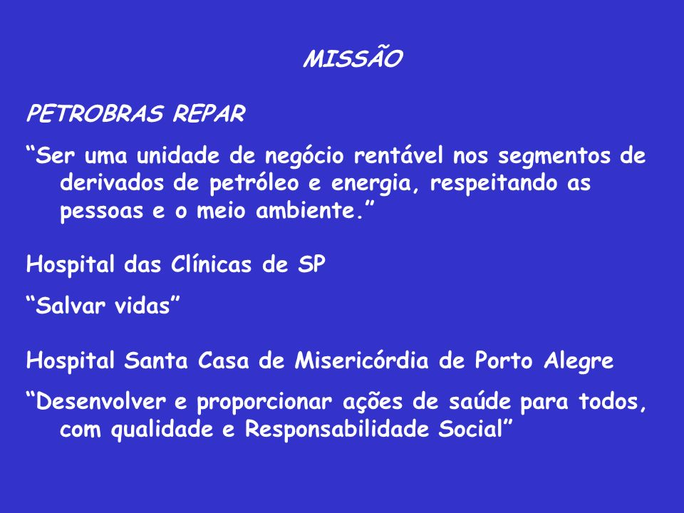 MISSÃO PETROBRAS REPAR.