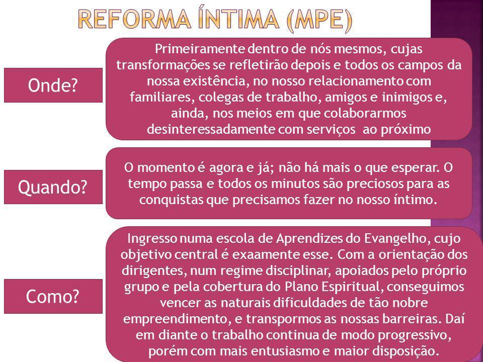 Reforma íntima (MPE) Onde Quando Como