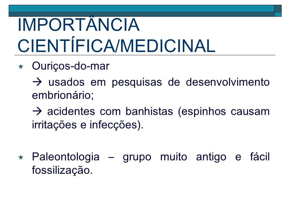 IMPORTÂNCIA CIENTÍFICA/MEDICINAL