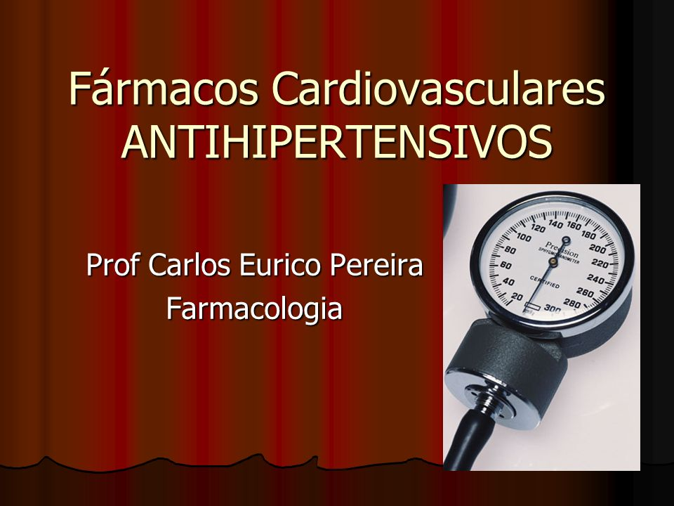 Fármacos Cardiovasculares ANTIHIPERTENSIVOS