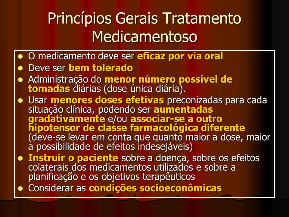 Princípios Gerais Tratamento Medicamentoso