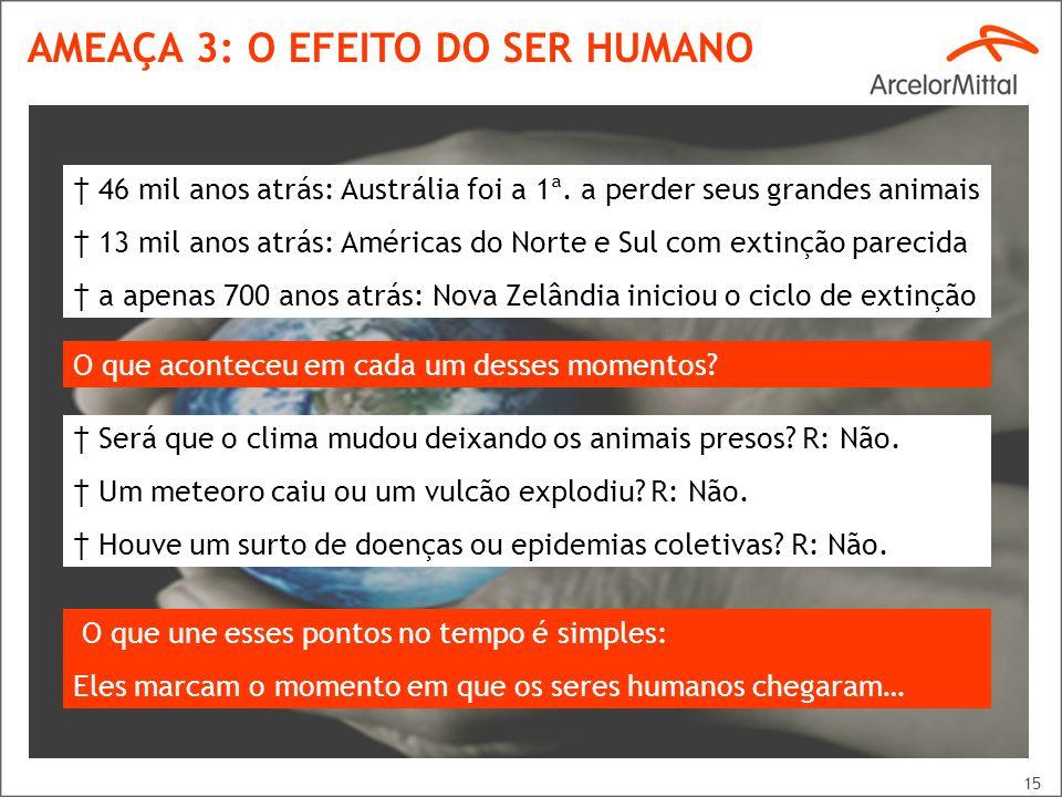 AMEAÇA 3: O EFEITO DO SER HUMANO