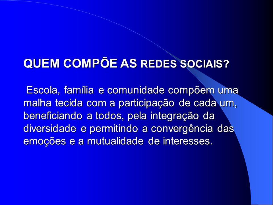 QUEM COMPÕE AS REDES SOCIAIS
