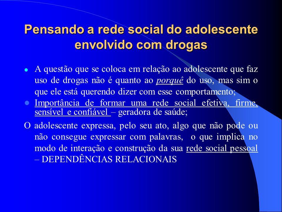 Pensando a rede social do adolescente envolvido com drogas