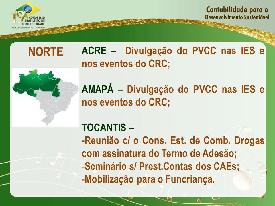 NORTE ACRE – Divulgação do PVCC nas IES e nos eventos do CRC;