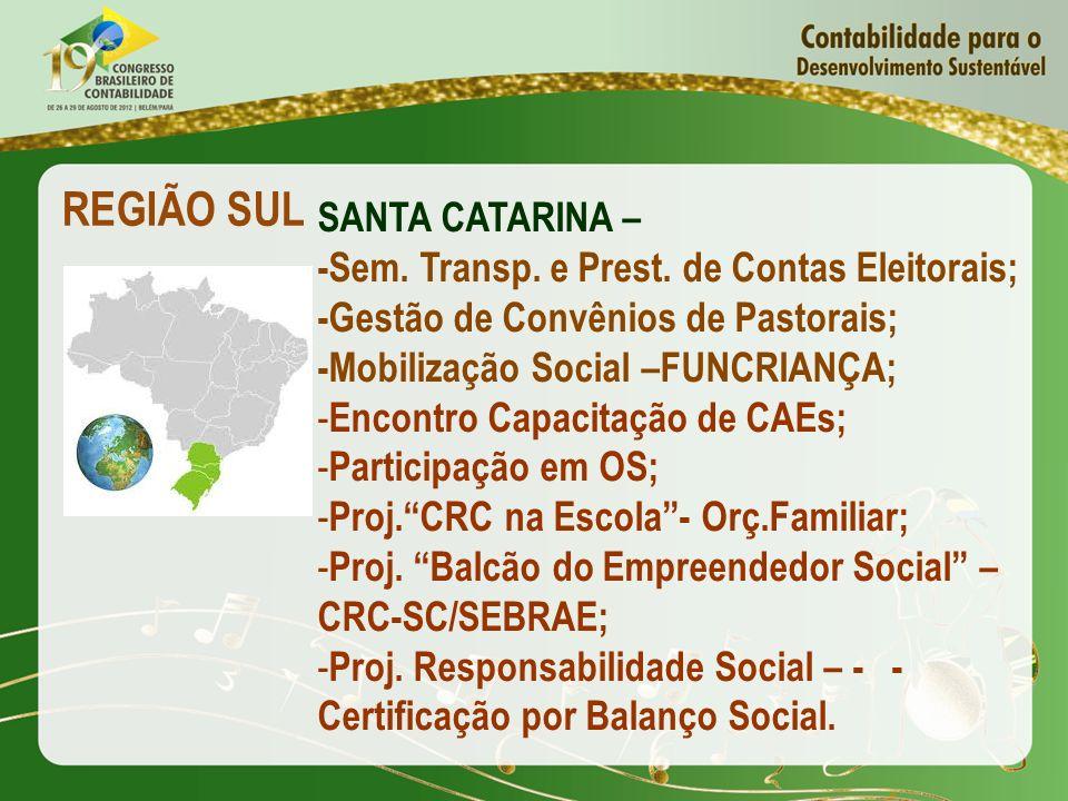 REGIÃO SUL SANTA CATARINA –