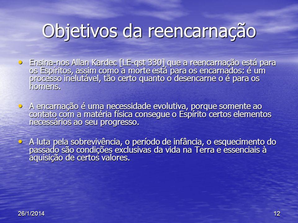 Objetivos da reencarnação