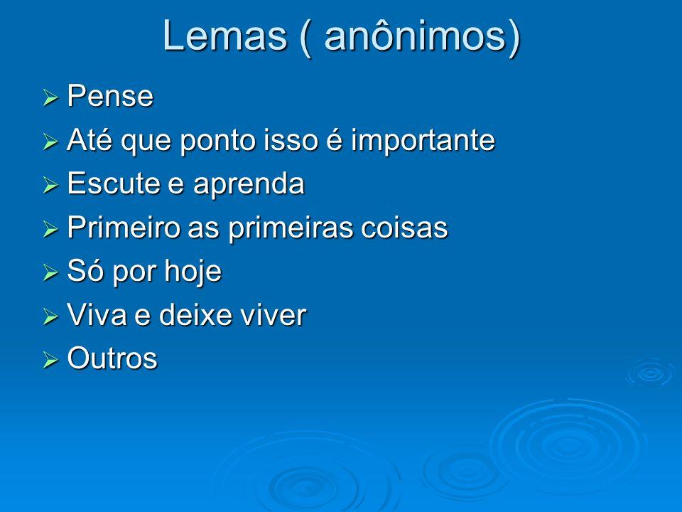 Lemas ( anônimos) Pense Até que ponto isso é importante