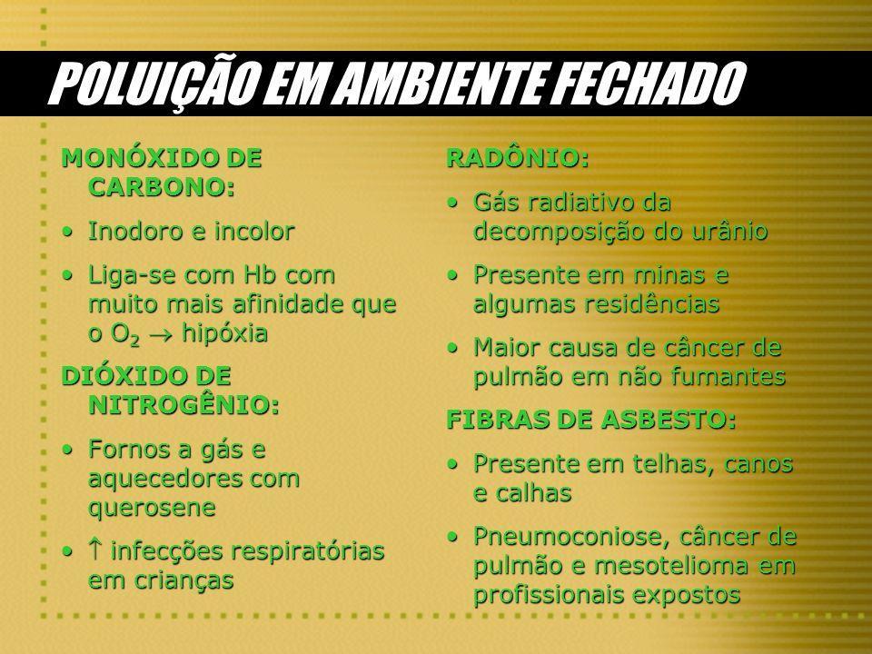 POLUIÇÃO EM AMBIENTE FECHADO