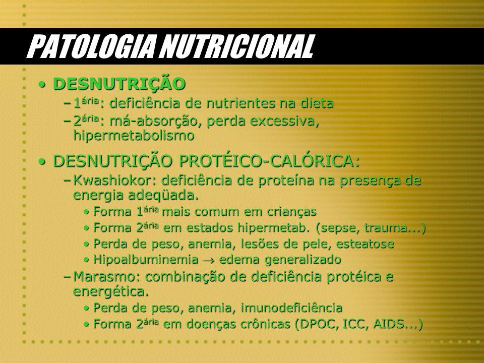 PATOLOGIA NUTRICIONAL