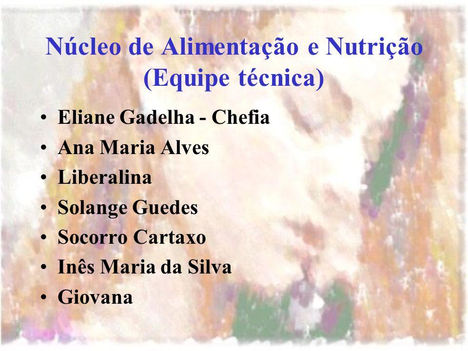 Núcleo de Alimentação e Nutrição (Equipe técnica)