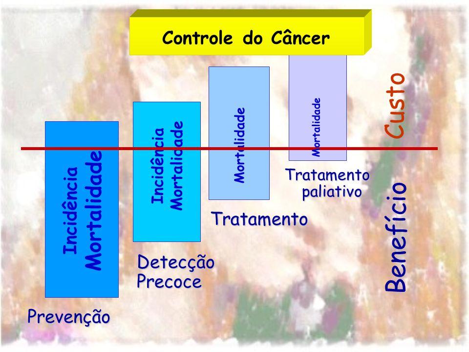 Custo Benefício Mortalidade Controle do Câncer Incidência Tratamento