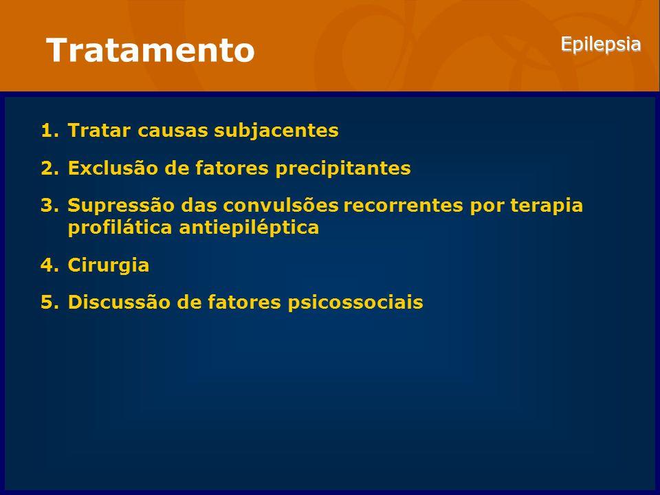 Tratamento Tratar causas subjacentes Exclusão de fatores precipitantes