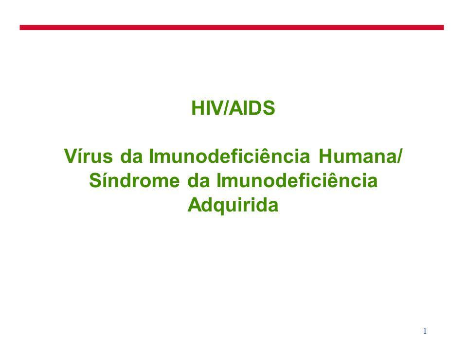 3/25/2017 HIV/AIDS Vírus da Imunodeficiência Humana/ Síndrome da Imunodeficiência Adquirida