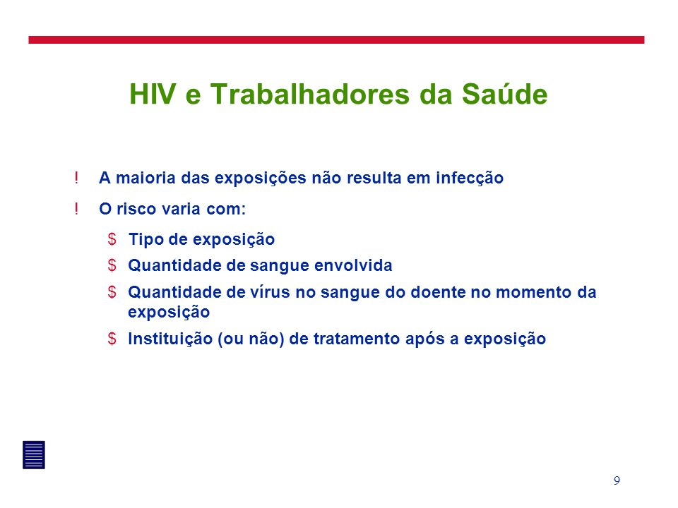 HIV e Trabalhadores da Saúde