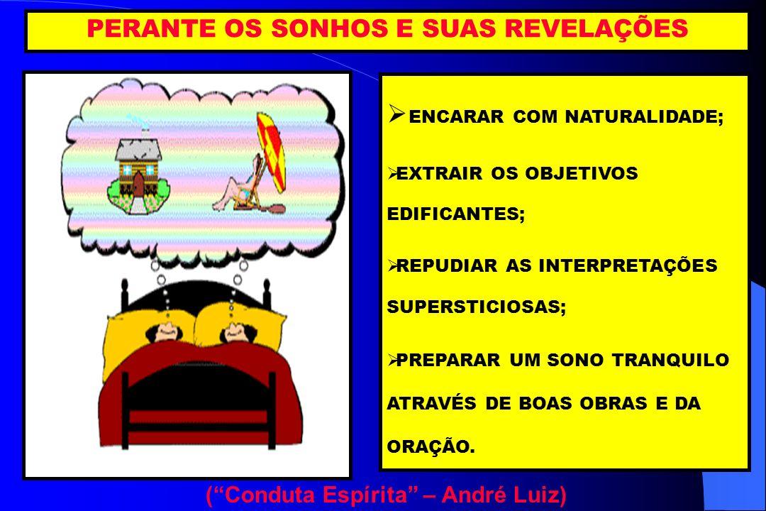 PERANTE OS SONHOS E SUAS REVELAÇÕES ( Conduta Espírita – André Luiz)