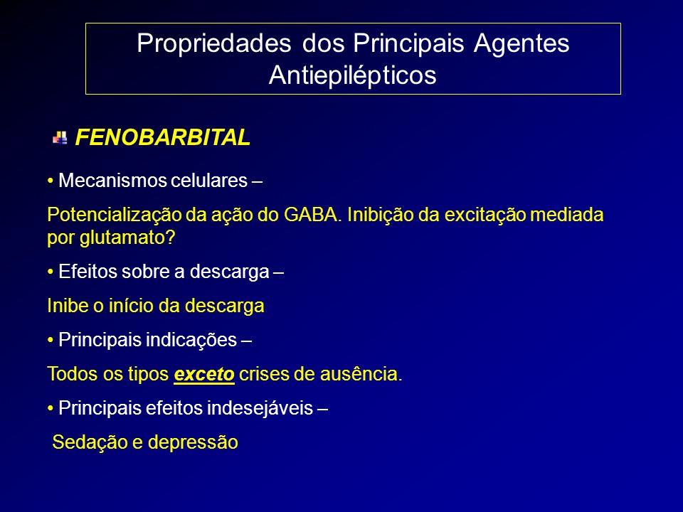 Propriedades dos Principais Agentes Antiepilépticos