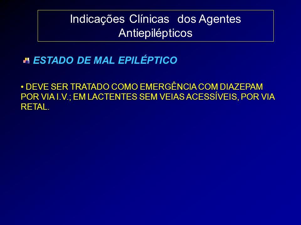 Indicações Clínicas dos Agentes Antiepilépticos