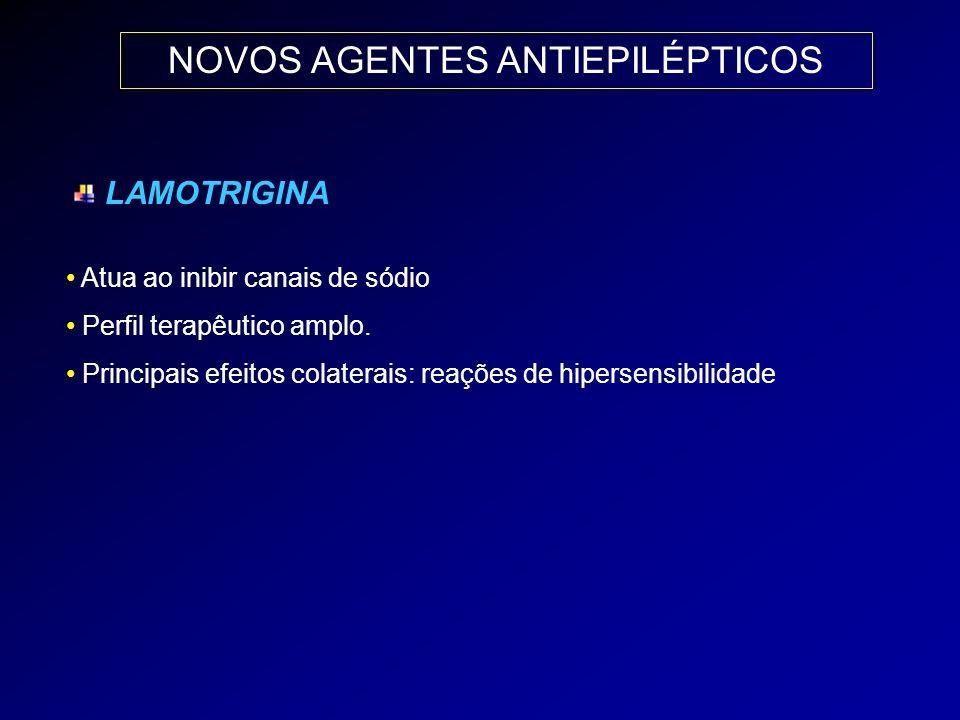 NOVOS AGENTES ANTIEPILÉPTICOS