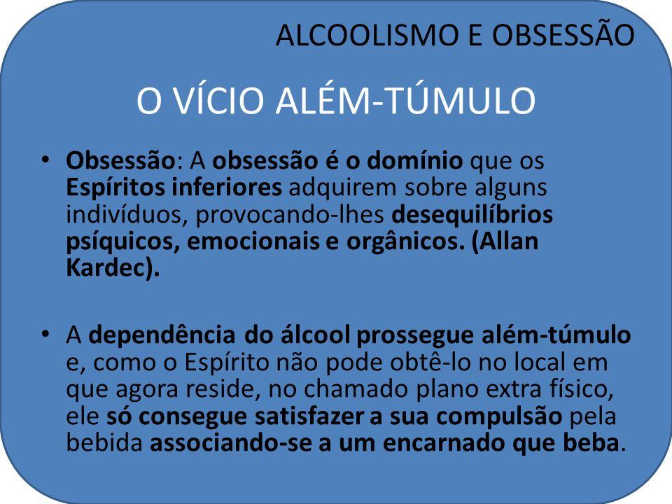 O VÍCIO ALÉM-TÚMULO ALCOOLISMO E OBSESSÃO