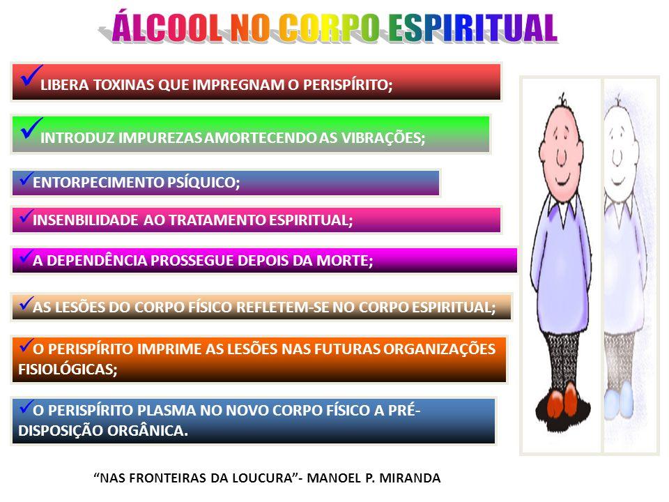 ÁLCOOL NO CORPO ESPIRITUAL