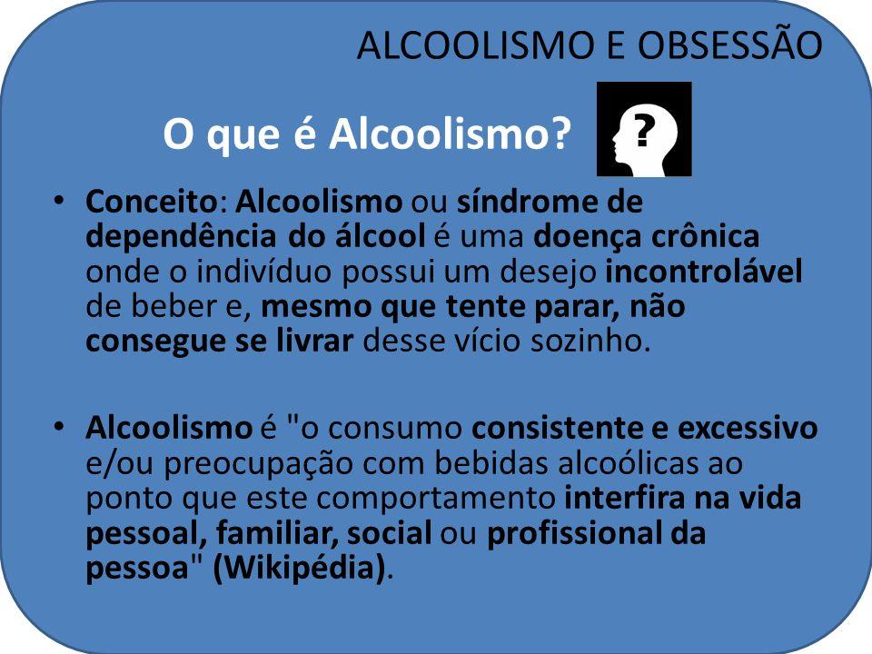 O que é Alcoolismo ALCOOLISMO E OBSESSÃO