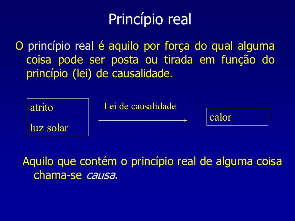 Princípio realO princípio real é aquilo por força do qual alguma coisa pode ser posta ou tirada em função do princípio (lei) de causalidade.