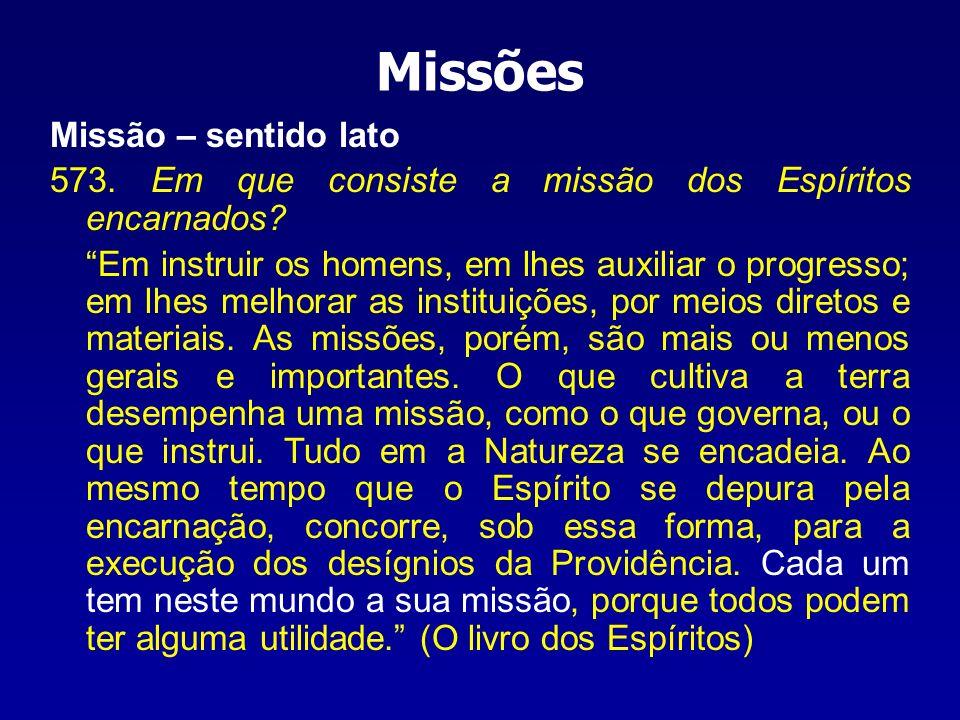 Missões Missão – sentido lato