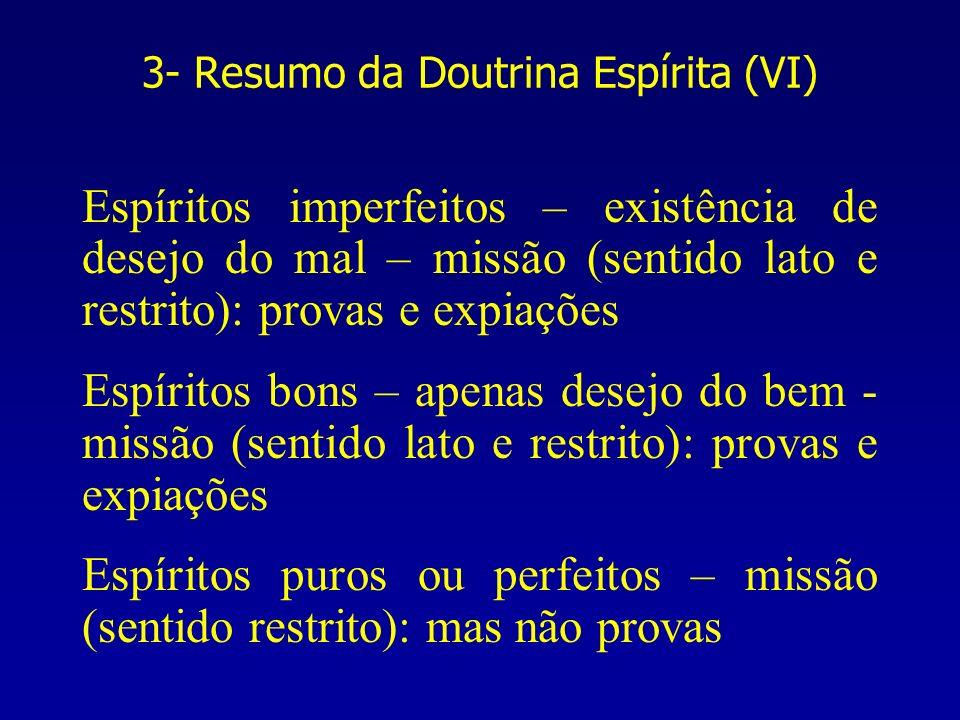 3- Resumo da Doutrina Espírita (VI)