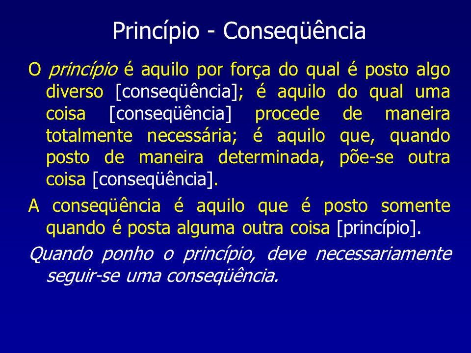 Princípio - Conseqüência