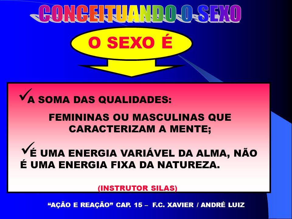 O SEXO É CONCEITUANDO O SEXO A SOMA DAS QUALIDADES: