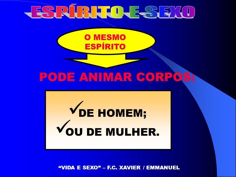 VIDA E SEXO – F.C. XAVIER / EMMANUEL