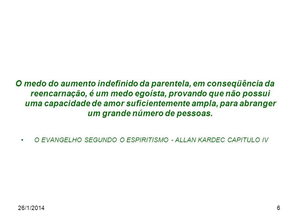 O EVANGELHO SEGUNDO O ESPIRITISMO - ALLAN KARDEC CAPITULO IV