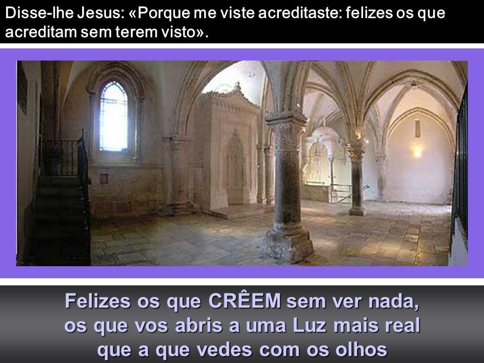 Disse-lhe Jesus: «Porque me viste acreditaste: felizes os que acreditam sem terem visto».