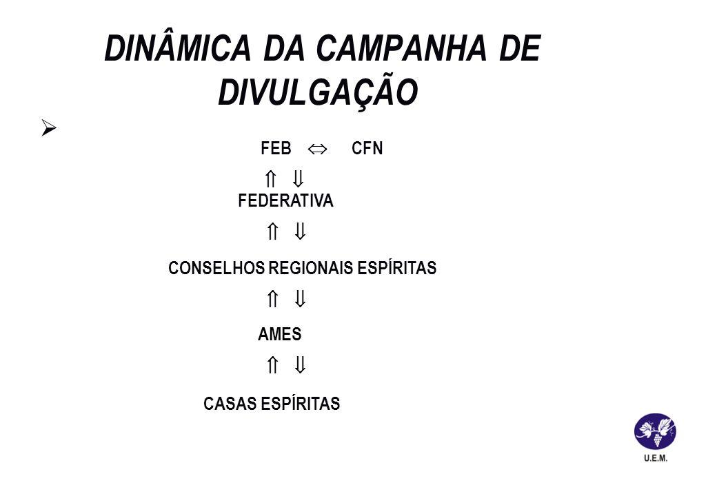 DINÂMICA DA CAMPANHA DE DIVULGAÇÃO