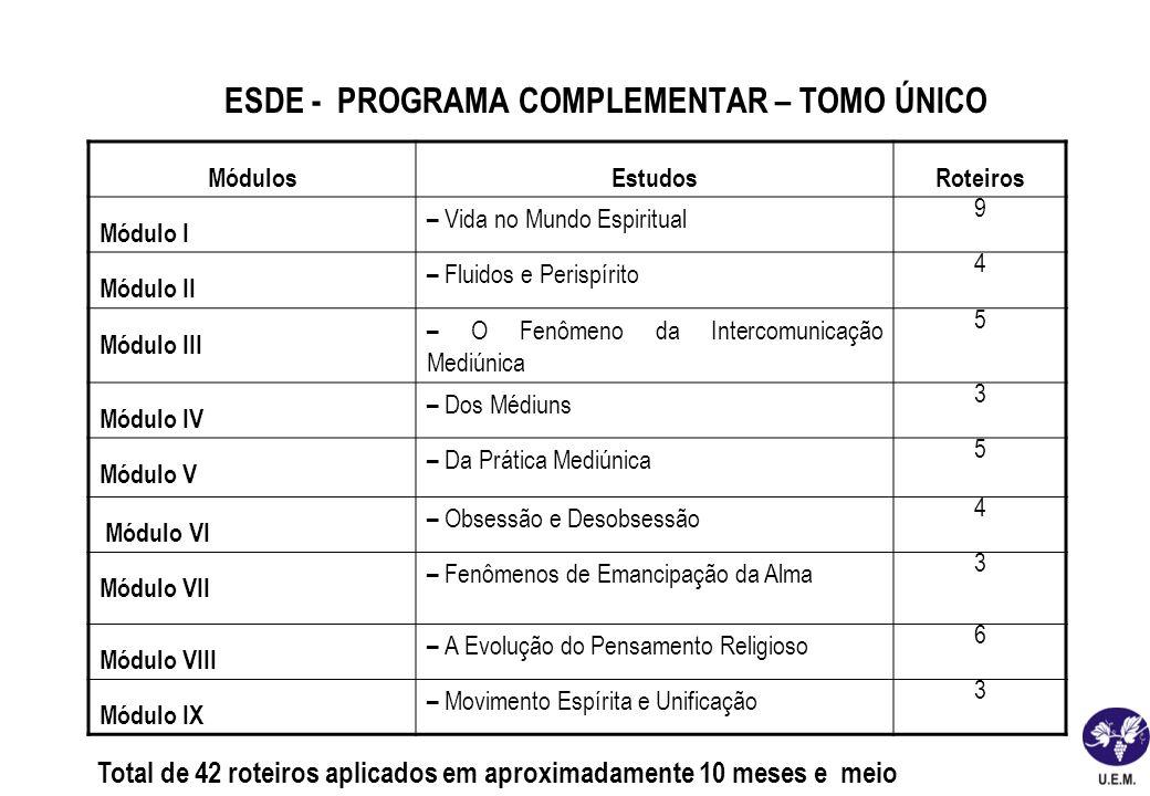 ESDE - PROGRAMA COMPLEMENTAR – TOMO ÚNICO