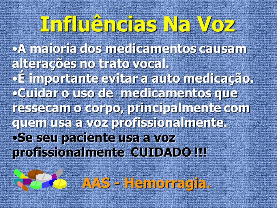 Influências Na Voz AAS - Hemorragia.