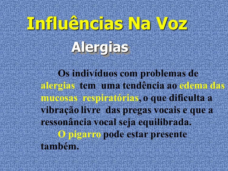 Influências Na Voz Alergias