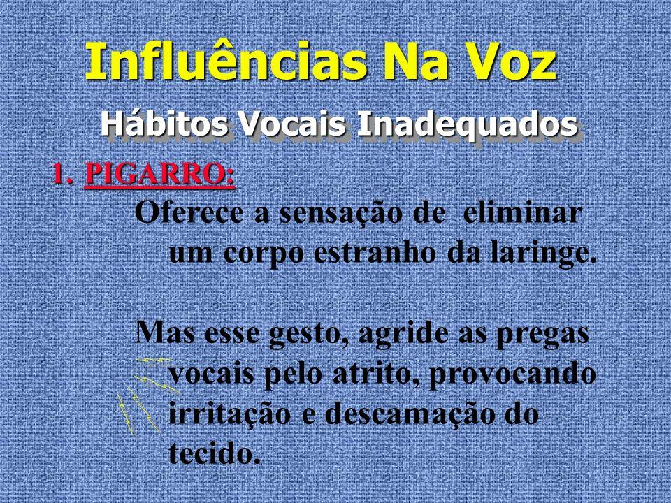 Influências Na Voz Hábitos Vocais Inadequados