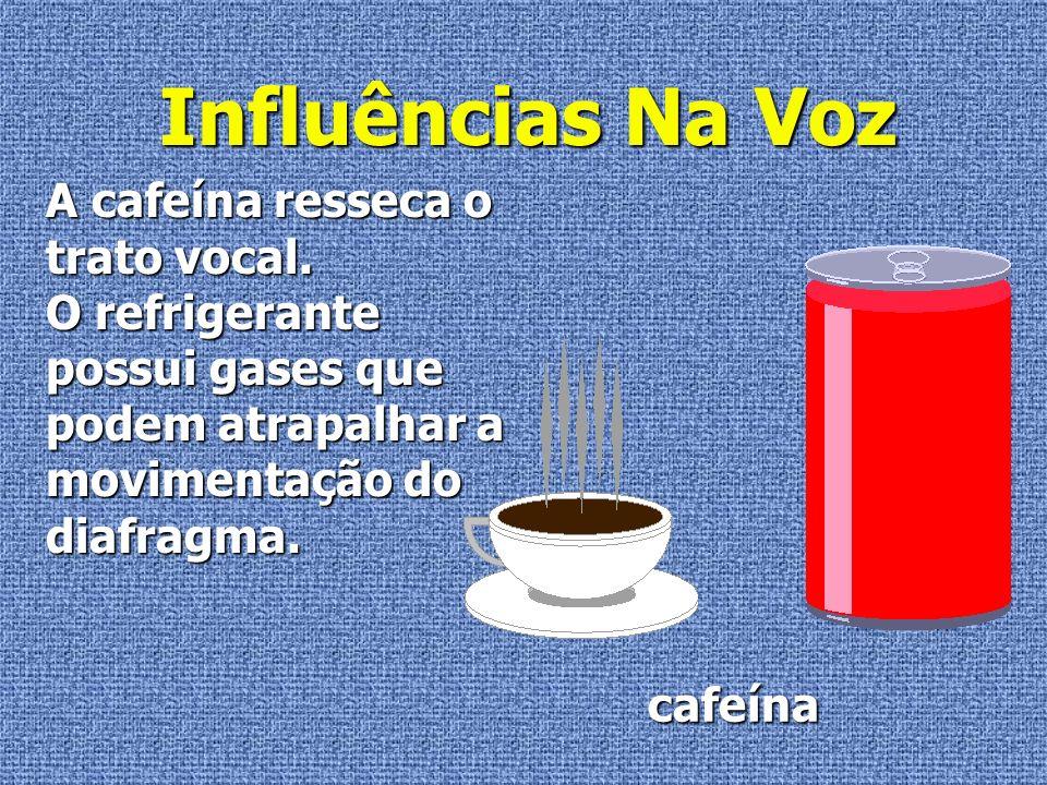 Influências Na Voz A cafeína resseca o trato vocal.