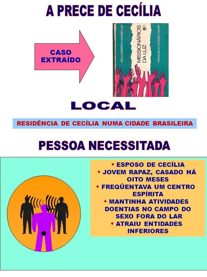 RESIDÊNCIA DE CECÍLIA NUMA CIDADE BRASILEIRA  FREQÜENTAVA UM CENTRO