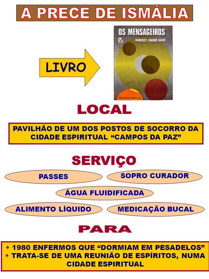 A PRECE DE ISMÁLIA LOCAL SERVIÇO PARA