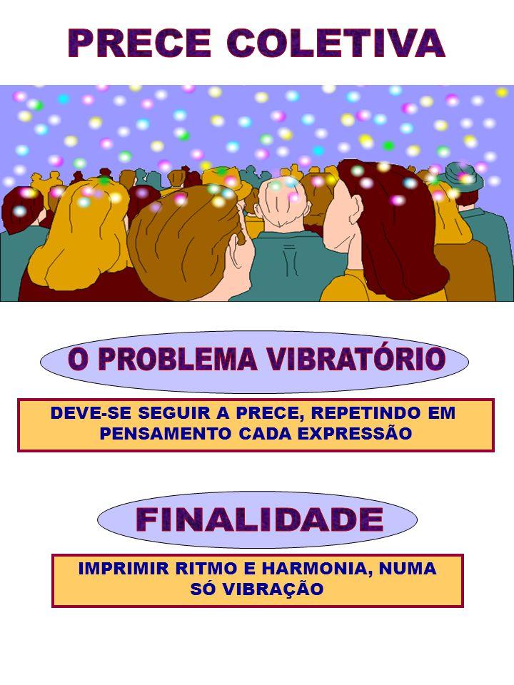 PRECE COLETIVA O PROBLEMA VIBRATÓRIO FINALIDADE