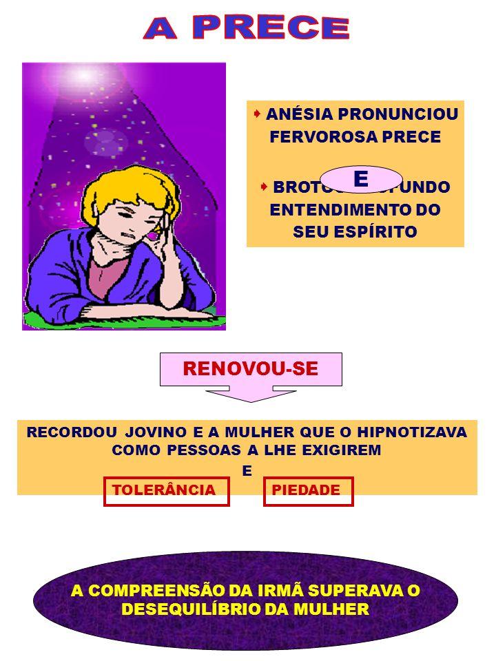 A PRECE E RENOVOU-SE  ANÉSIA PRONUNCIOU FERVOROSA PRECE