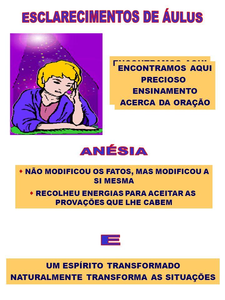ESCLARECIMENTOS DE ÁULUS ANÉSIA E