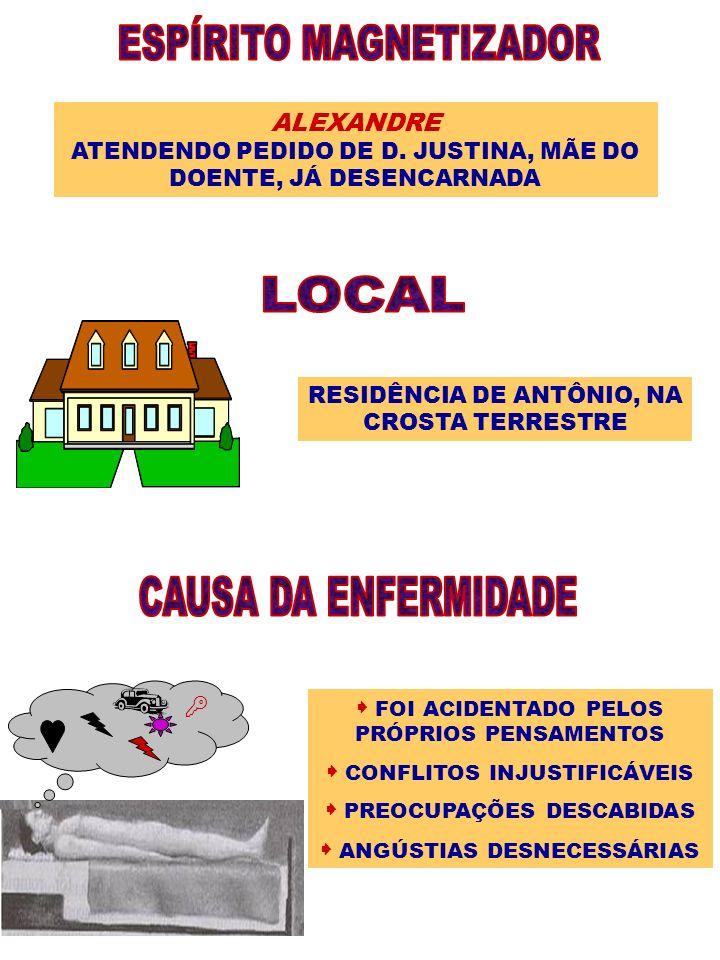 ESPÍRITO MAGNETIZADOR LOCAL CAUSA DA ENFERMIDADE