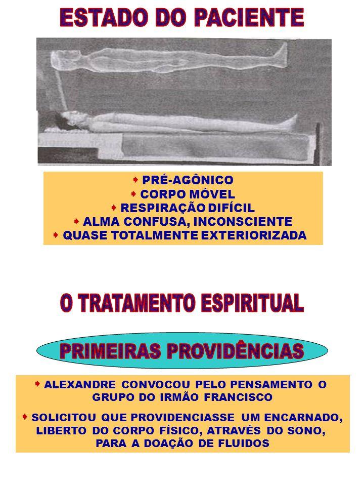 ESTADO DO PACIENTE O TRATAMENTO ESPIRITUAL PRIMEIRAS PROVIDÊNCIAS