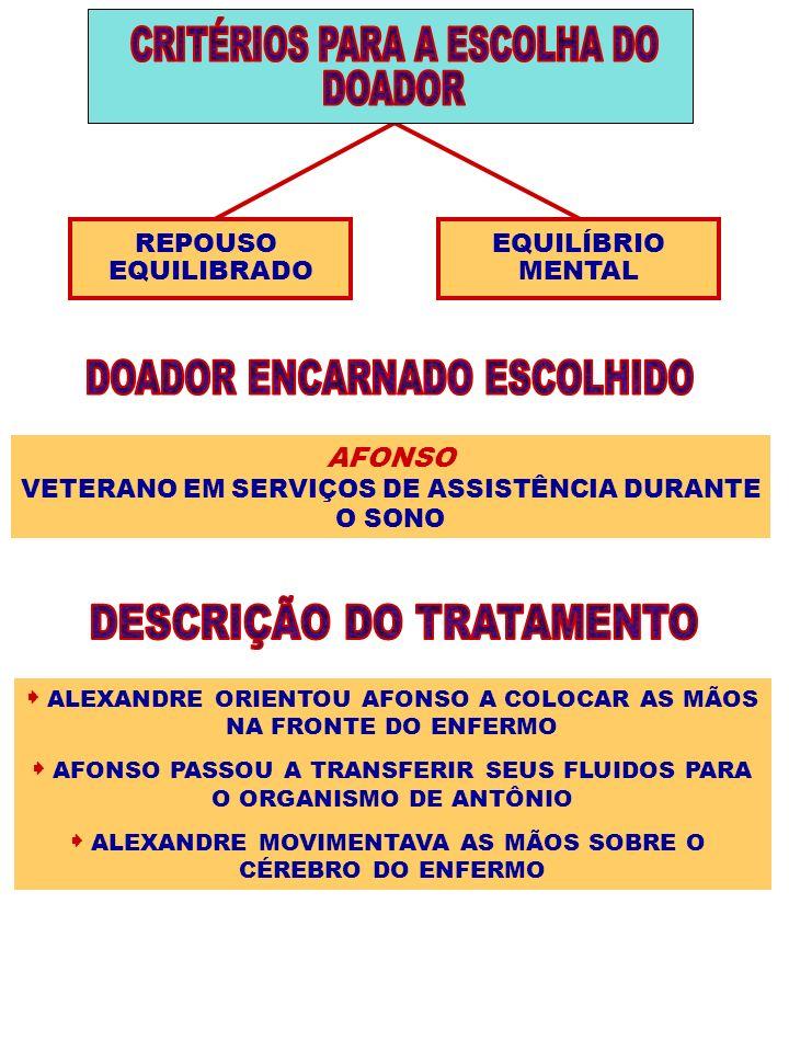 CRITÉRIOS PARA A ESCOLHA DO DOADOR